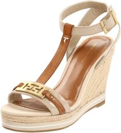 19c3da097 Tommy Hilfiger Womens Daisie Wedge Espadrille in Brown (luggage)
