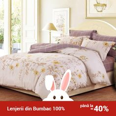 Lenjerie de pat din bumbac Valentini Bianco TB010/64 Comforters, Blanket, Bed, Furniture, Home Decor, Creature Comforts, Quilts, Decoration Home, Stream Bed