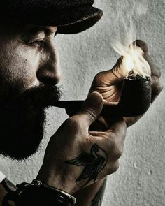 Geburah: Perfumes --> Tobacco ['favourite perfume for men engaged in severe hard work'] Pipes And Cigars, Cigars And Whiskey, Whisky, Hairy Men, Bearded Men, Tobacco Pipe Smoking, Tobacco Pipes, Smoking Pipes, Der Gentleman