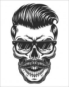 Tatoo Crane, Dessin Old School, Monochrome, Hipster Haircuts For Men, 16 Tattoo, Barber Tattoo, Totenkopf Tattoos, Vintage Hipster, Men Hipster