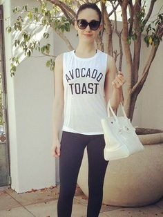 13c8cdaa79 Pin for Later  Celebs Have Already Been Busy Getting Healthy in 2016 Emmy  Rossum started the day off right with some avocado toast. IVI Vision