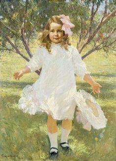 Frank Weston Benson (1862-1951) — Portrait of a Young Girl Mary Estes Smith, 1909 (1400×1940)