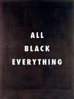 Fly Art tumblr   Run this town No. 8 Black form painting no. 8 (1964), Mark Rothko / Run This Town, Jay-Z ft. Kanye West, Rihanna