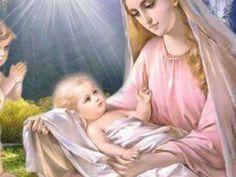 La Virgen en el nacimiento del nino Jesus