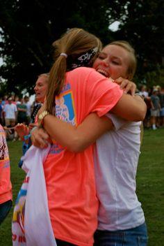 Bid Day hugs