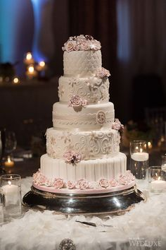 Stunning 5-Tier Wedding Cake by Cakes By Design Canada