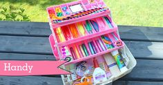With a sequin here and a gluestick there, here a sticker, there some glitter, everywhere a pom pom! Here are 15 ways to organise kid's craft supplies...