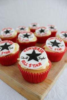 Converse Chuck Taylors Cupcakes by lydiabakes