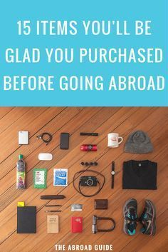 If you're studying abroad soon, you've probably forgotten some of these important items. 15 Items You'll Be Glad You Purchased Before Study Abroad. study abroad tips, study abroad travel, study overseas, travel abroad tips Travel Info, Packing Tips For Travel, Travel Essentials, Travel Hacks, Paris Packing, Packing Lists, Traveling Europe, Traveling Tips, Travel Gadgets