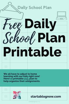 It's a unique time in our history. As I've struggled to help my children adapt to home learning, I've had to create fun kids' printables to help. Our Kids, My Children, School Plan, Home Learning, Wall Art Quotes, How To Start A Blog, Elementary Schools, Free Printables, Organize