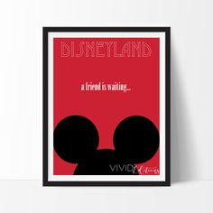 Mickey Mouse Ears, Disneyland Poster