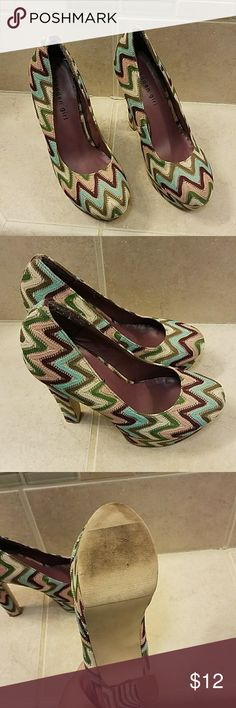 MADDEN GIRL HEELS SIZE 7.5 Really cute pair of heels worn just a couple of times... in really good shape.. Madden Girl Shoes Heels