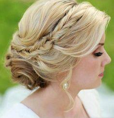 Un peinado para novia, ¿les gusta? :)
