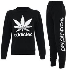 I fucking need this in my life. Weed Girls, 420 Girls, Tracksuit Set, Stoner Girl, Swagg, Fashion Outfits, Womens Fashion, Cute Outfits, Sweatshirts