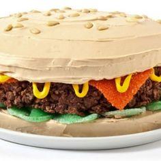 Hamburger Birthday Cake Design