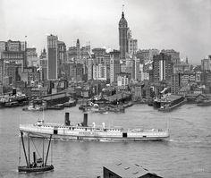 Manhattan circa 1908.P&B.