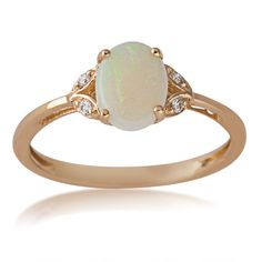 Opal and Diamond Ring in 10 Kt. Yellow Gold - GJ16356R-BJ2