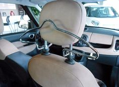 14-16 FIAT 500L CHROME HEADREST MOUNTED COAT HANGER OEM MOPAR GENUINE 68222101AA #MOPAR