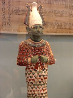 Statue of Osiris British Museum EA dynasty, about 1170 BC. Ancient Egyptian Art, Ancient History, Kemet Egypt, Cradle Of Civilization, Ancient Artifacts, African History, Ancient Civilizations, British Museum, Painting On Wood