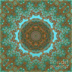 Spiritual Art - Diaphanous Moods Mandala - digital art by Giada Rossi fineartamerica.com #digitalartwork #mandalaart