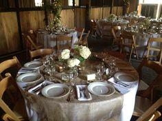 Beautiful rustic reception © Mahaffey Tent & Event Rentals