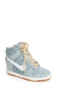 Nike x Liberty - hidden wedge sneakers // love this design co-lab! #footwear_design