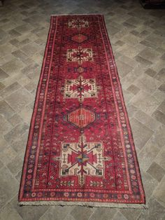3.6 x 10.5. $430 Kitchen Rug, Red Rugs, Traditional Rugs, Wool Rug, Persian, Bohemian Rug, Carpet, Antiques, Handmade