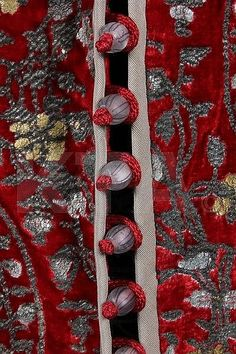 A fine Mariano Fortuny stencilled red velvet - Kerry Taylor Auctions