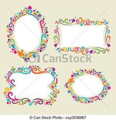 Floral frame set - csp3536967
