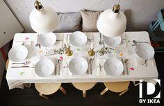 Deco-idee voor je tafel: kleurrijke details zorgen voor een gezellige feesttafel. IKEA PS 2014 tafel #IKEAbe #IKEAidee #aantafel