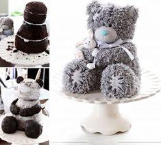 bake-a-boo: The making of the famous Mr.Me to You Bear Cake Teddy Bear Birthday Cake, Teddy Bear Cakes, Baby Teddy Bear, Birthday Cakes, Fancy Cakes, Cute Cakes, Bake A Boo, Angel Cake, Novelty Cakes
