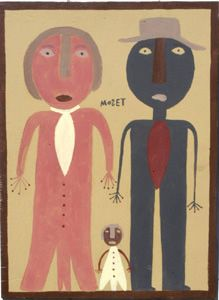 """Mose T, one of the leaders of the contemporary Outsider Art movement lived and worked in Montgomery, Alabama.  We love this """"family"""" portrait."""
