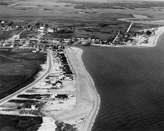 Arial view of Bowers Beach, DE.  1306-000-000 #426.  Delaware Public Archives. www.archives.delaware.gov