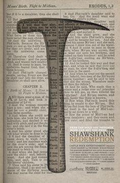 34 Beautifully Designed Movie Posters - The Shawshank Redemption - Plakat - Movies Best Movie Posters, Minimal Movie Posters, Movie Poster Art, Cool Posters, Film Posters, Disney Posters, Great Films, Good Movies, Die Verurteilten
