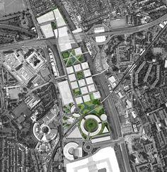 Masterplan Architecture, Concrete Architecture, City Architecture, Architecture Diagrams, Urban Design Diagram, Urban Design Plan, White City London, Paving Design, Urban Fabric