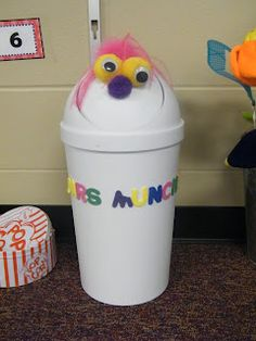 Mrs. Muncher! Your class will love guessing what's in her!