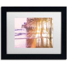 Trademark Fine Art 'Newport Pier Sunset 2' Canvas Art by Ariane Moshayedi, White Matte, Black Frame, Size: 11 x 14, Multicolor