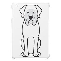 Mastiff Dog Cartoon iPad Mini Case