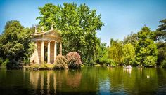 villa borghese rome - Villa Borghese is the largest public park in Rome. It offers a pleasant refuge from the often hectic streets in the city. The park features a lake, temples, fountains, statues and several museums. Rome Places To Visit, Must See Italy, Chateau Saint Ange, Le Vatican, Rome Antique, Sites Touristiques, Garden Villa, Renaissance Architecture, Sistine Chapel