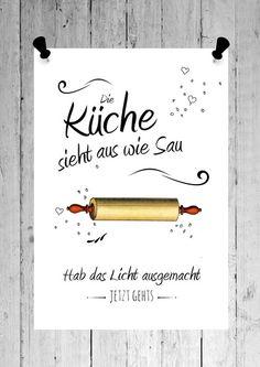 Druck   Kunstdruck Print  KÜCHE von SCHILDERMANUFAKTUR   ---  homestyle-accessoires  --- auf DaWanda.com