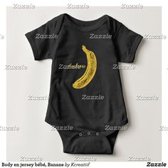 Body en jersey bébé, Banane