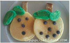 She's Creative   Pumpkin Pancakes - SheSaved®  So simple and cute! The kids love these in the fall or any time of year!