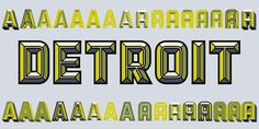 """Match & Kerosene - layered font system meant to imitate """"titlling effects used by skilled sign painters"""" - nice!"""