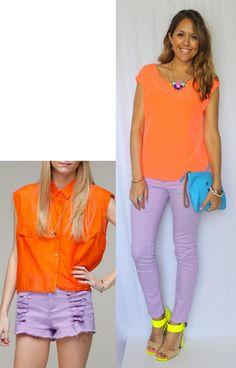 Neon Orange + Lavender