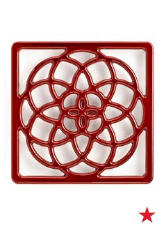 Martha Stewart Collection collector's enameled cast iron trivet — make sure that those tasty dishes of yours always sitting pretty