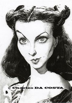 Vivien Leigh (by Charles DA COSTA)