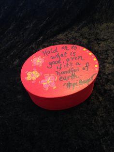 Encouragement Meditation Box by CraftyOlBats on Etsy
