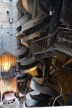 A slide at the St. Louis City Museum. OMG! Why didn't I do this while I was there?!