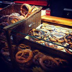 Pretzels at the German Christmas Market,