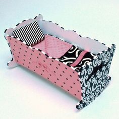 Handpainted baby doll bed.